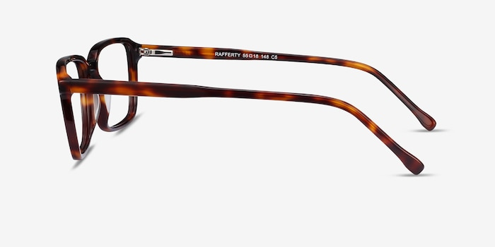 Rafferty Tortoise Acetate Eyeglass Frames from EyeBuyDirect, Side View