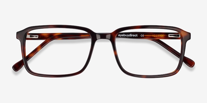 Rafferty Tortoise Acetate Eyeglass Frames from EyeBuyDirect, Closed View