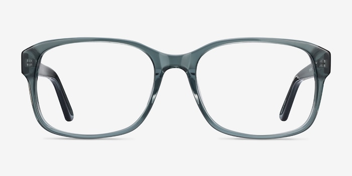 Tobias Clear Gray Acetate Eyeglass Frames from EyeBuyDirect, Front View