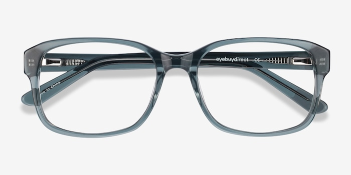 Tobias Clear Gray Acetate Eyeglass Frames from EyeBuyDirect, Closed View