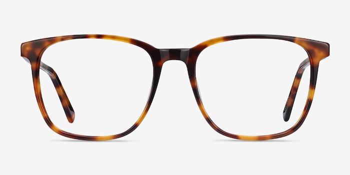Finn Tortoise Acetate Eyeglass Frames from EyeBuyDirect, Front View