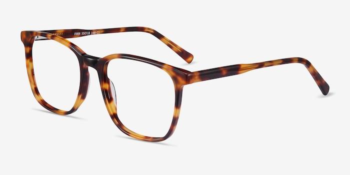 Finn Tortoise Acetate Eyeglass Frames from EyeBuyDirect, Angle View