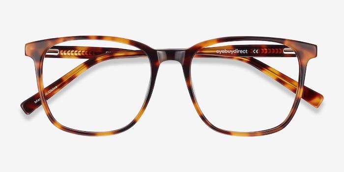 Finn Tortoise Acetate Eyeglass Frames from EyeBuyDirect, Closed View