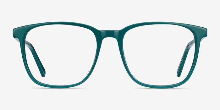 Finn Teal Acetate Eyeglass Frames from EyeBuyDirect, Front View