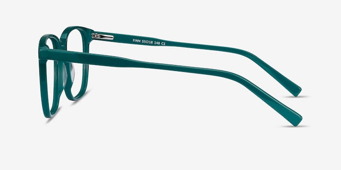 Finn Teal Acetate Eyeglass Frames from EyeBuyDirect, Side View