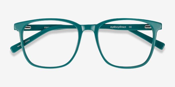 Finn Teal Acetate Eyeglass Frames from EyeBuyDirect, Closed View