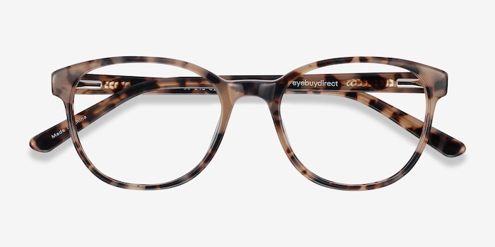 Gable Ivory Tortoise Acetate Eyeglass Frames from EyeBuyDirect, Closed View