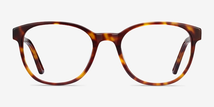 Gable Tortoise Acetate Eyeglass Frames from EyeBuyDirect, Front View