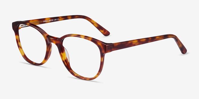 Gable Tortoise Acetate Eyeglass Frames from EyeBuyDirect, Angle View