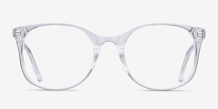 Greta Clear Acetate Eyeglass Frames from EyeBuyDirect, Front View