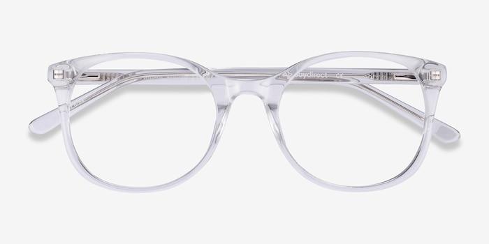 Greta Transparent Acétate Montures de Lunettes d'EyeBuyDirect, Vue Rapprochée