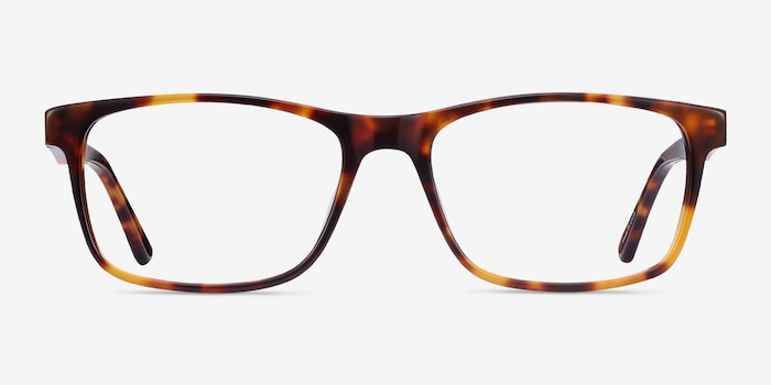 Pochi Tortoise Acetate Eyeglass Frames from EyeBuyDirect, Front View