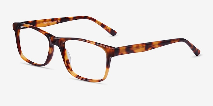 Pochi Tortoise Acetate Eyeglass Frames from EyeBuyDirect, Angle View