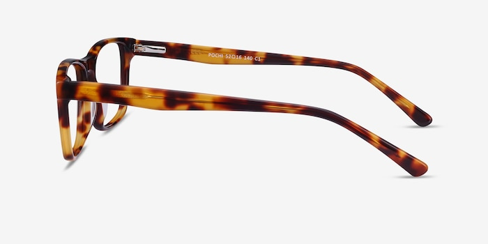 Pochi Tortoise Acetate Eyeglass Frames from EyeBuyDirect, Side View