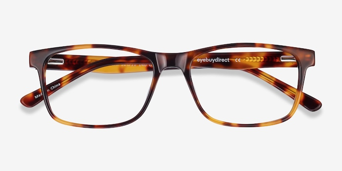 Pochi Tortoise Acetate Eyeglass Frames from EyeBuyDirect, Closed View