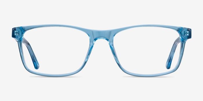 Pochi Bleu Acétate Montures de Lunette de vue d'EyeBuyDirect, Vue de Face