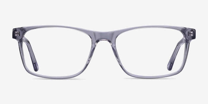 Pochi Gray Acetate Eyeglass Frames from EyeBuyDirect, Front View