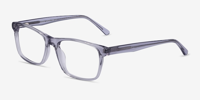 Pochi Gray Acetate Eyeglass Frames from EyeBuyDirect, Angle View