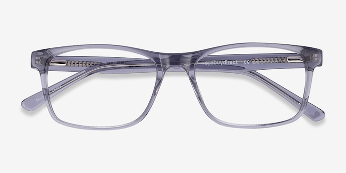 Pochi Gray Acetate Eyeglass Frames from EyeBuyDirect, Closed View