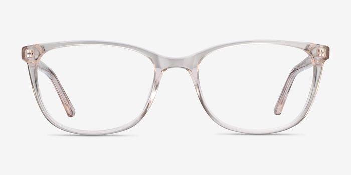 Lena Clear Beige Acetate Eyeglass Frames from EyeBuyDirect, Front View