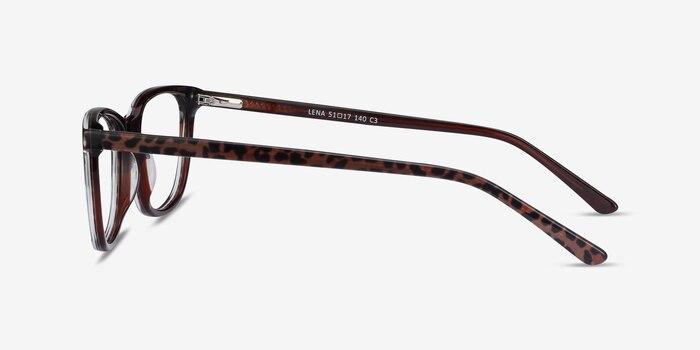 Lena Leopard Acetate Eyeglass Frames from EyeBuyDirect, Side View