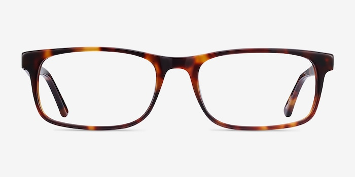 Vista Brown Tortoise Acetate Eyeglass Frames from EyeBuyDirect, Front View