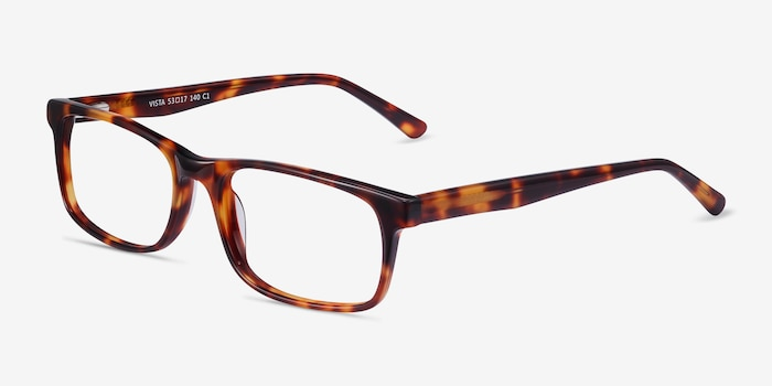 Vista Brown Tortoise Acetate Eyeglass Frames from EyeBuyDirect, Angle View