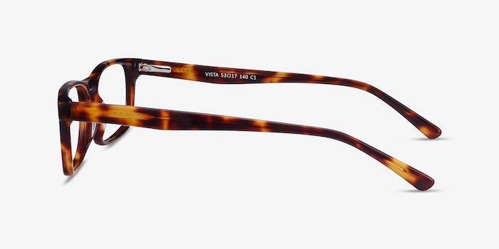 Vista Brown Tortoise Acetate Eyeglass Frames from EyeBuyDirect, Side View