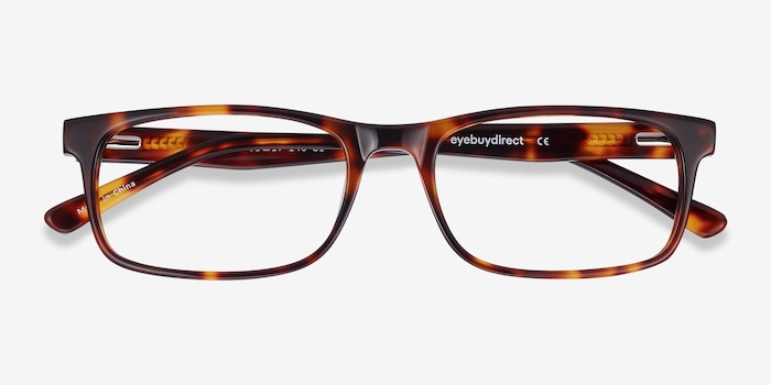 Vista Brown Tortoise Acetate Eyeglass Frames from EyeBuyDirect, Closed View