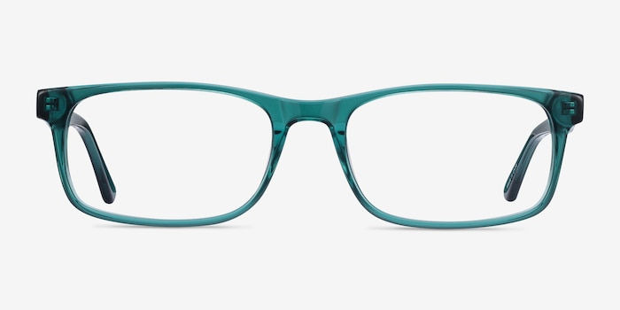 Vista Teal Acetate Eyeglass Frames from EyeBuyDirect, Front View