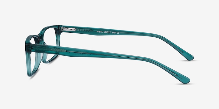 Vista Teal Acetate Eyeglass Frames from EyeBuyDirect, Side View