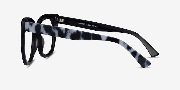 Unique Black & Panther Acetate Eyeglass Frames from EyeBuyDirect, Side View