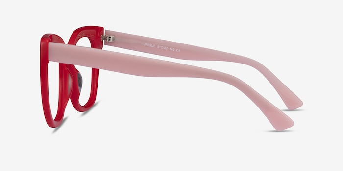 Unique Red & Pink Acetate Eyeglass Frames from EyeBuyDirect, Side View
