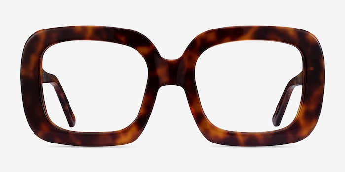 Gloria Tortoise Acetate Eyeglass Frames from EyeBuyDirect, Front View