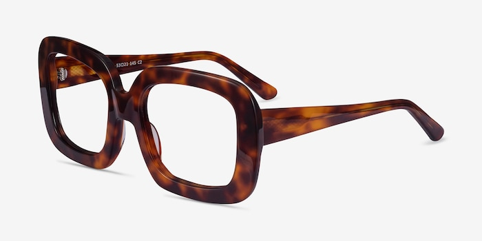 Gloria Tortoise Acetate Eyeglass Frames from EyeBuyDirect, Angle View