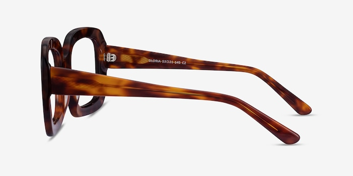 Gloria Tortoise Acetate Eyeglass Frames from EyeBuyDirect, Side View