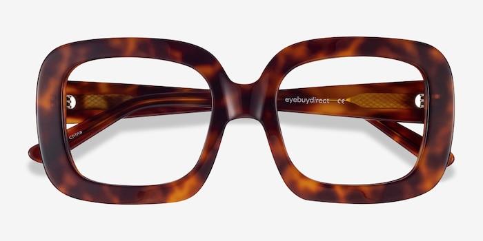 Gloria Tortoise Acetate Eyeglass Frames from EyeBuyDirect, Closed View