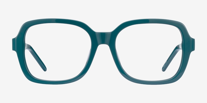Renee Teal Acetate Eyeglass Frames from EyeBuyDirect, Front View