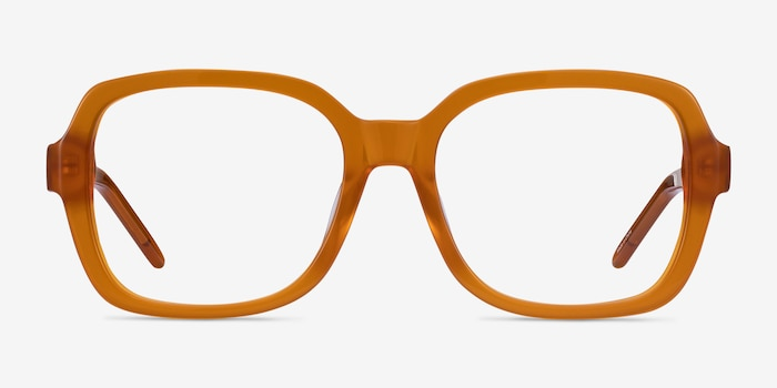 Renee Mellow Yellow Acetate Eyeglass Frames from EyeBuyDirect, Front View