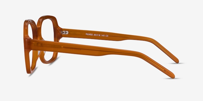 Renee Mellow Yellow Acetate Eyeglass Frames from EyeBuyDirect, Side View