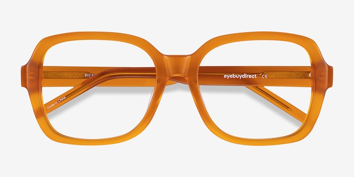 Renee Mellow Yellow Acetate Eyeglass Frames from EyeBuyDirect, Closed View