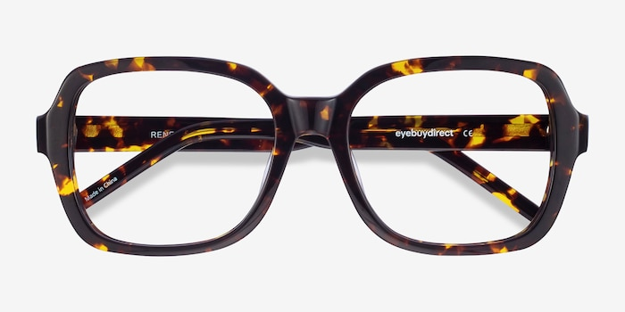 Renee Tortoise Acetate Eyeglass Frames from EyeBuyDirect, Closed View