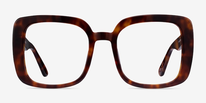 Heather Tortoise Acetate Eyeglass Frames from EyeBuyDirect, Front View