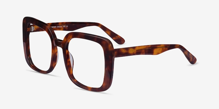 Heather Tortoise Acetate Eyeglass Frames from EyeBuyDirect, Angle View