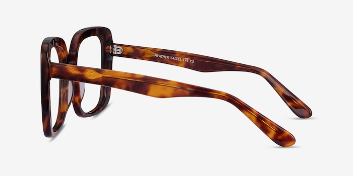 Heather Tortoise Acetate Eyeglass Frames from EyeBuyDirect, Side View