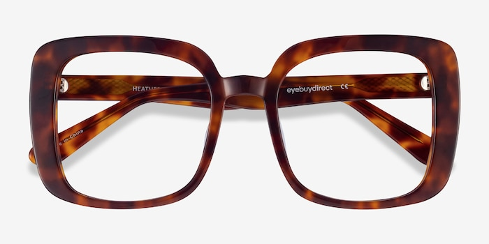 Heather Tortoise Acetate Eyeglass Frames from EyeBuyDirect, Closed View