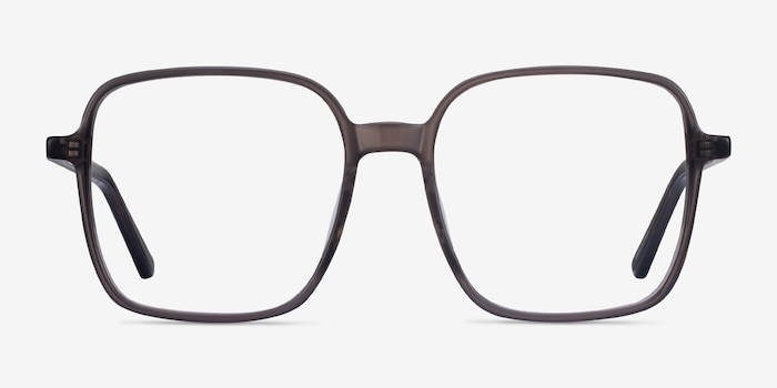 Sixto Gray Acetate Eyeglass Frames from EyeBuyDirect, Front View
