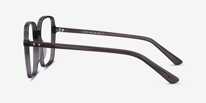 Sixto Gray Acetate Eyeglass Frames from EyeBuyDirect, Side View