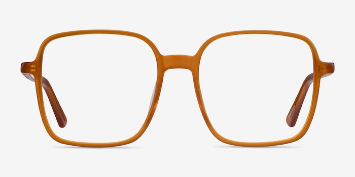 Sixto Mellow Yellow Acetate Eyeglass Frames from EyeBuyDirect, Front View