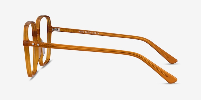Sixto Mellow Yellow Acetate Eyeglass Frames from EyeBuyDirect, Side View